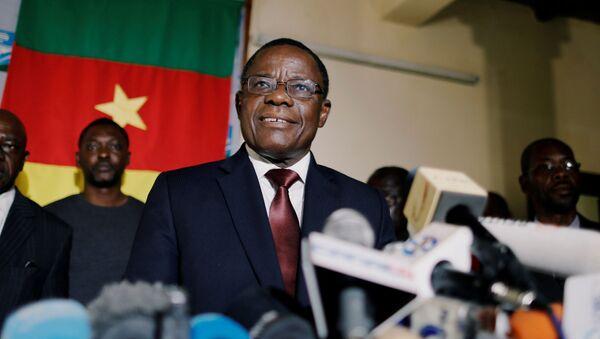 Maurice Kamto annonce au cours d'une conférence au siège de son parti à Yaoundé le 25 novembre 2019 qu'il ne participera pas aux élections locales de 2020. - Sputnik France