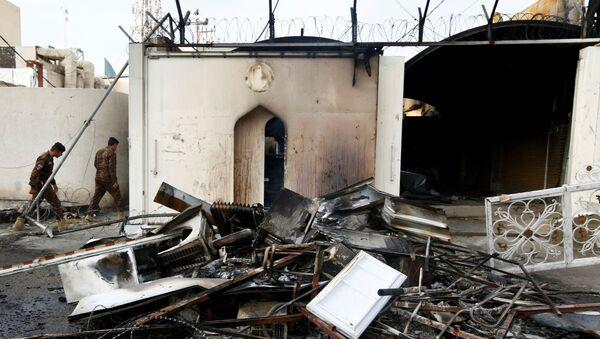 Le consulat iranien à Nadjaf, en Irak, après l'incendie - Sputnik France