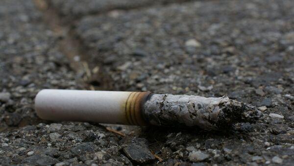 Un mégot de cigarette - Sputnik France
