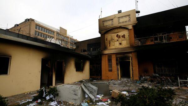 Consulat iranien incendié à Nadjaf, 28 novembre 2019 - Sputnik France