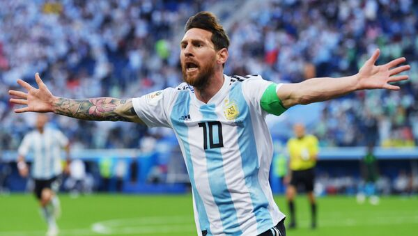 Lionel Messi lors du match Nigeria-Argentine à la Coupe du monde 2018 - Sputnik France