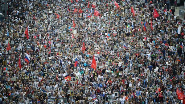 Participants au Régiment immortel à Moscou - Sputnik France