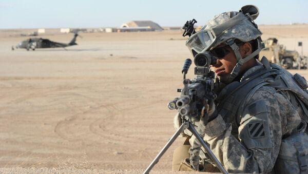 Un soldat américain à la base aérienne d'Al-Asad en Irak - Sputnik France