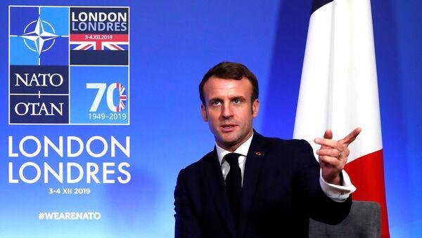 Emmanuel Macron lors du sommet du 70e anniversaire de l'Otan à Londres - Sputnik France