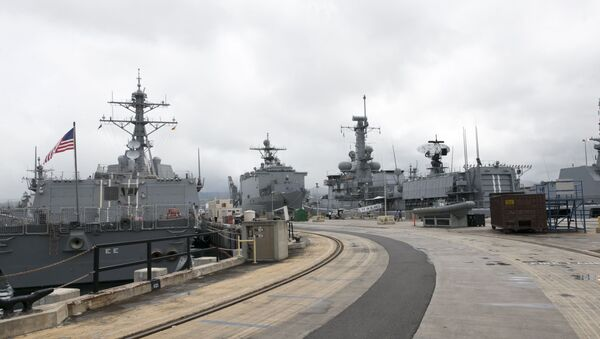 Naval ships from various countries are docked at Hawaii's Joint Base Pearl Harbor-Hickam - Sputnik France