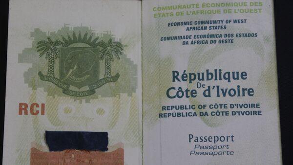 Un passeport de la République de Côte d'Ivoire. - Sputnik France
