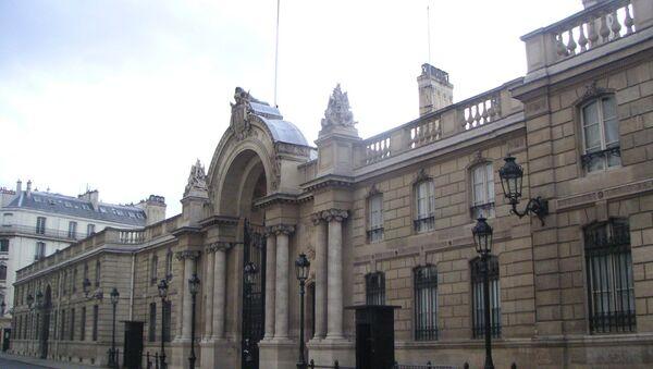 Entrée principale du Palais de l'Elysée à Paris - VIIIe arrondissement - Rue du Faubourg Saint-Honoré. - Sputnik France
