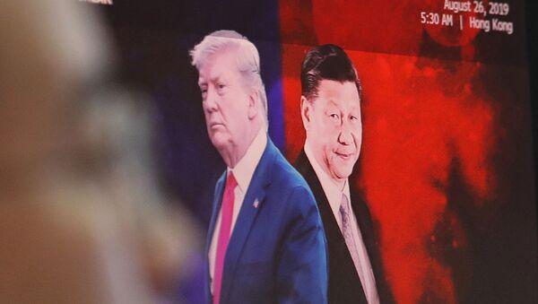 Image représentant Donald Trump et Xi Jinping, respectivement Présidents des Etats-Unis et de la Chine - Sputnik France