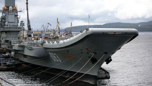 Le porte-avions Amiral Kouznetsov à Mourmansk - Sputnik France