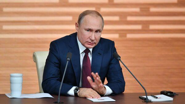 la grande conférence de presse annuelle du Président russe 2019 - Sputnik France