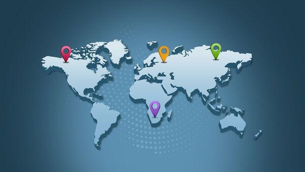 Carte du monde. - Sputnik France