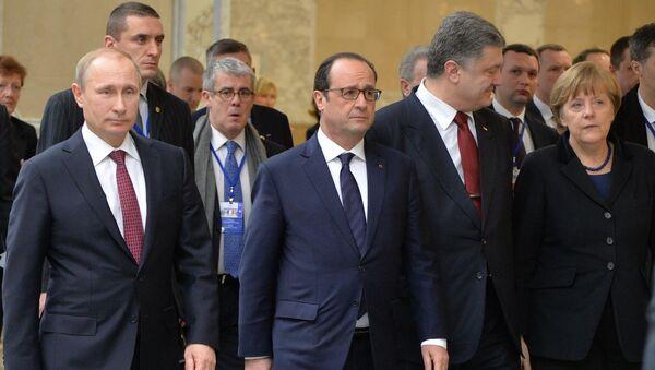Sommet de Minsk. 11 février 2015 - Sputnik France