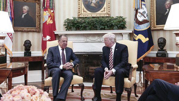 Sergueï Lavrov et Donald Trump (photo d'archives) - Sputnik France
