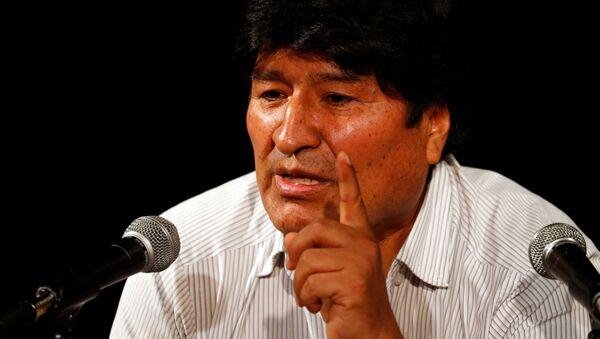 Evo Morales lors d'une conférence de presse à Buenos Aires - Sputnik France