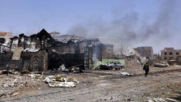 Последствия авиаударов ВВС коалиции по Йемену - Sputnik France