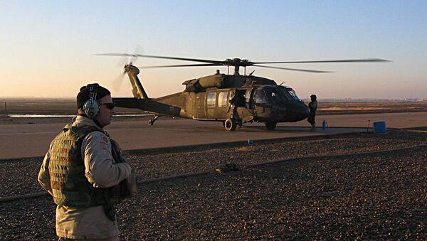 Un hélicoptère américain à la base aérienne de Balad, en Irak - Sputnik France