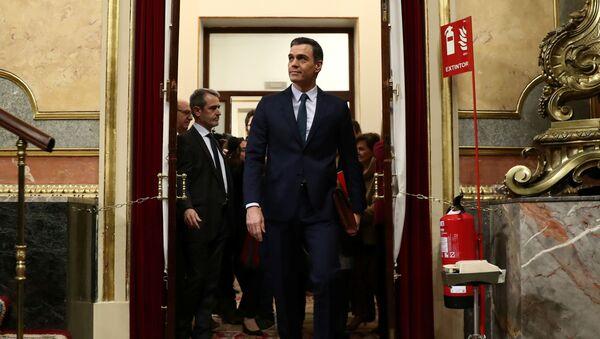 Pedro Sánchez llega a la votación de su investidura - Sputnik France