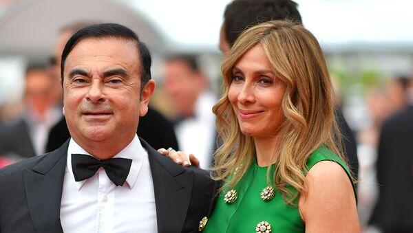 Carlos Ghosn et sa femme Carole  - Sputnik France