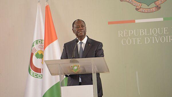 Le Président de la République ivoirien Alassane Ouattara, lors de la cérémonie de présentation de vœux du Nouvel An 2020. - Sputnik France