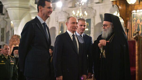 Vladimir Poutine en visite à Damas le 7 janvier 2020  - Sputnik France