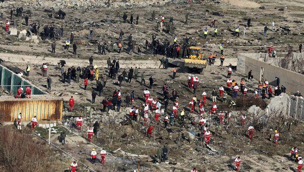 Le lieu du crash du Boeing ukrainien en Iran - Sputnik France