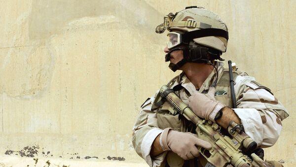 Un soldat américain à la base de Balad, en Irak - Sputnik France