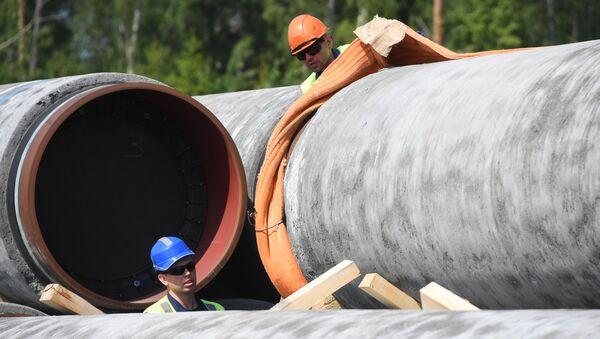 Les travaux de construction du gazoduc Nord Stream 2 - Sputnik France