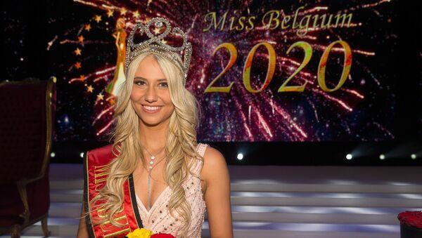 Miss Belgique Celine Van Ouytsel, le 11 janvier 2020 - Sputnik France