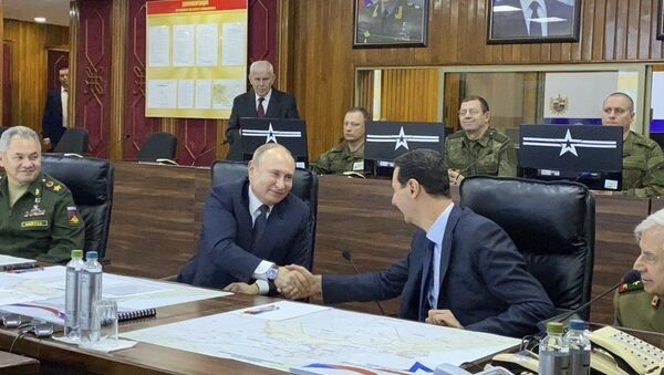 Poutine rencontre Assad à Damas - Sputnik France