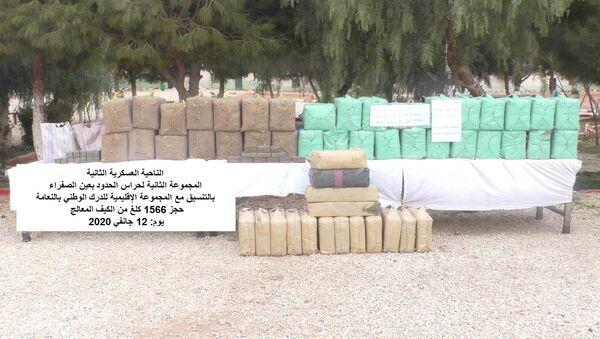 Saisie de plus d'une tonne et demi de cannabis par la gendarmerie nationale algérienne à Naâma  - Sputnik France