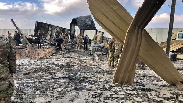 La base américaine Ain al-Asad en Irak après son pilonnage par des missiles iraniens  - Sputnik France