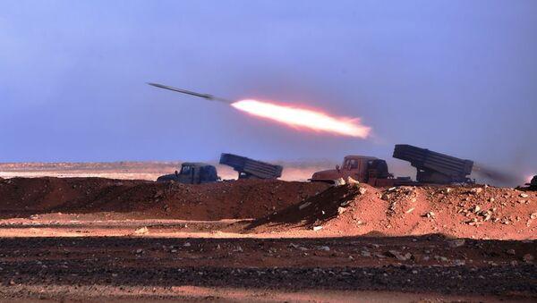 Manoeuvres avec munitions réelles «Borkane 2020» en 4e région militaire à Ouargla - Sputnik France