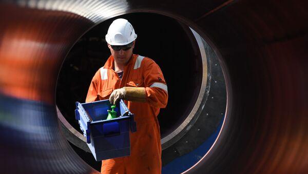 Construction du gazoduc Nord Stream 2, archives  - Sputnik France