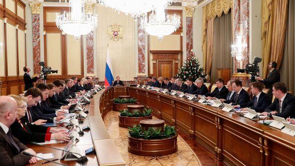 Dmitri Medvedev et les membres du gouvernement russe - Sputnik France