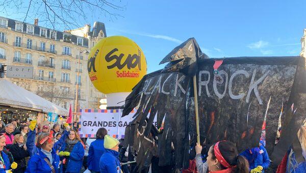 Réforme des retraites: la sixième journée de manifestations à Paris, le 16 janvier 2020 - Sputnik France
