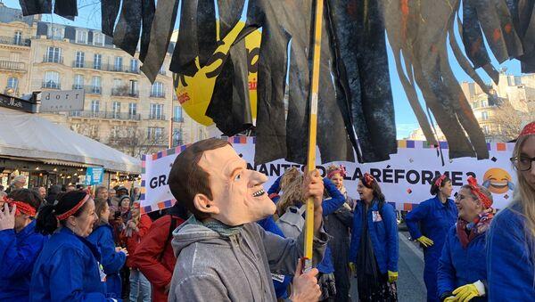 Réforme des retraites:  manifestations à Paris, le 16 janvier 2020 - Sputnik France