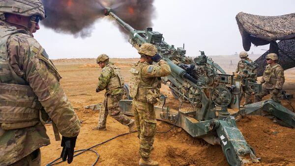 Военнослужащие армии США во время операции Непоколебимая решимость на ближнем Востоке - Sputnik France