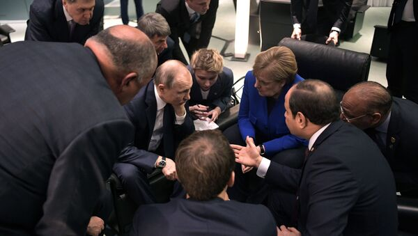 Поездка президента РФ В. Путина в Берлин для участия в Международной конференции по Ливии - Sputnik France
