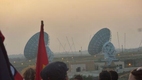 Militants du mouvement No MUOS près de la base aérienne US de Sigonella, en Sicile (photo d'archives) - Sputnik France