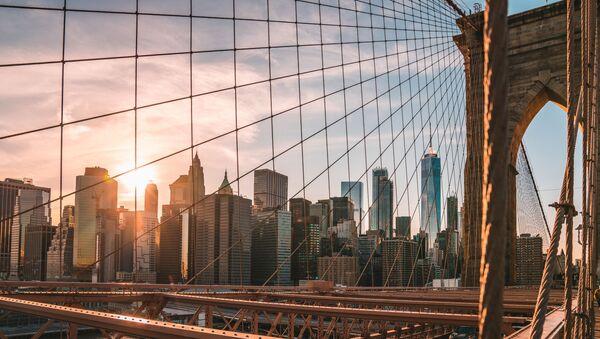 A view from the Brooklyn Bridge on New York - Sputnik France