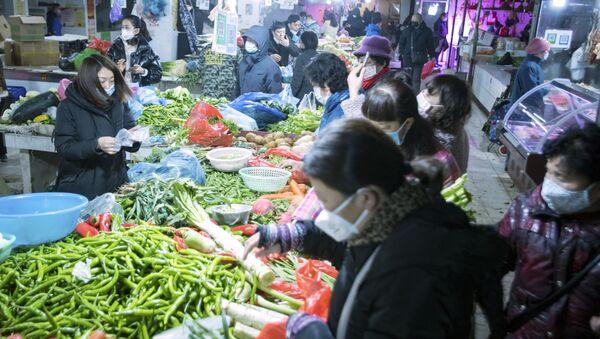 Un marché de Wuhan - Sputnik France