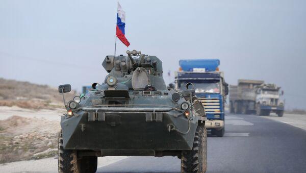 Une patrouille de la police militaire russe en Syrie (archive photo) - Sputnik France