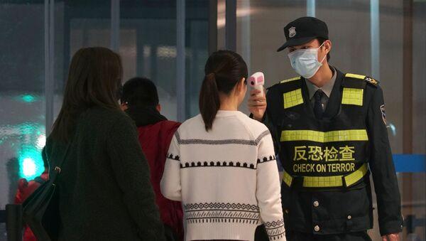 Проверка пассажиров в аэропорте китайского города Ухань - Sputnik France