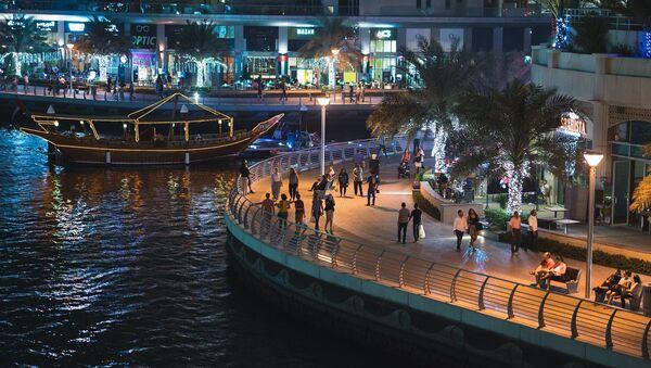 Вид на ночной Дубай, ОАЭ - Sputnik France