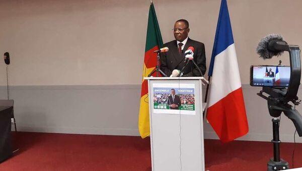 Maurice Kamto à Paris lors de la conférence de presse qu'il a donnée le 30 janvier 2020. - Sputnik France