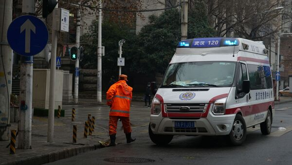 An ambulance in Wuhan, China - Sputnik France