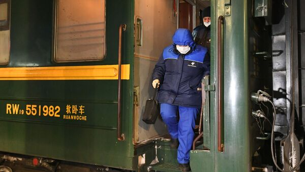 Un train Moscou-Pékin arrive à Krasnoïarsk (arhive photo) - Sputnik France