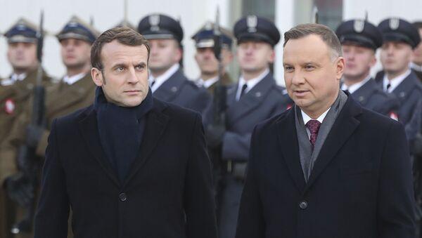 Emmanuel Macron avec le Président polonais Andrzej Duda - Sputnik France