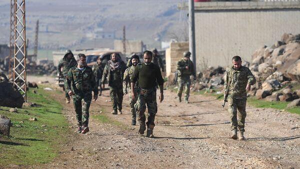 Syrische Regierungstruppen in der Provinz Idlib am 20. Dezember 2019 - Sputnik France