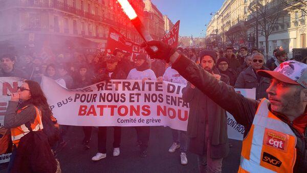 Grève contre la réforme des retraites, 6 février 2020, Paris - Sputnik France